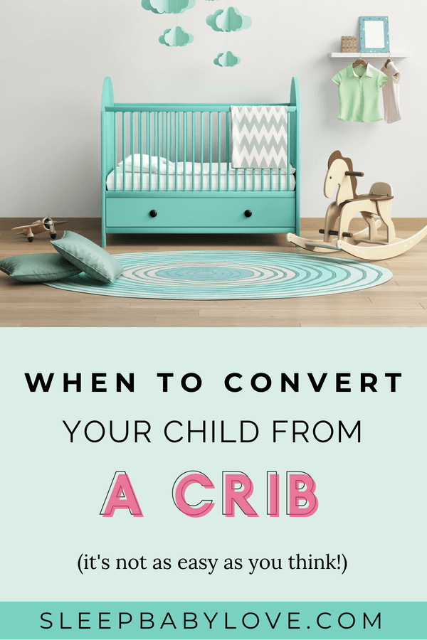 Often Times Parents Are Unsure When They Should Convert Their Child From Acrib To A Bed. Many Parents Assume That Their Baby Or Toddler Are Ready To Move To A Big Kid Bed, When In Reality, It Could Be Too Early. Click Through To Learn When It's The Right Time To Convert Your Child From A Crib To A Bed, And How To Go About Doing It! Toddler Sleep | Child Won't Sleep | #sleepbabylove #sleeptips #toddlersleep #toddler #toddlerlife #preschool