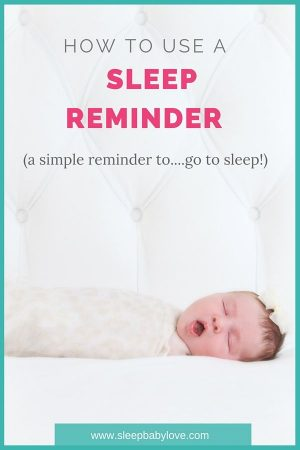 A Sleep Reminder Is A Friendly Reminder To Go To Sleep.... When And How To Use It? Click Here To Learn More!!