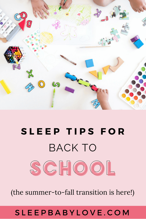 Sleep Tips For Back To School
