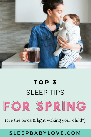 This Time Of Year Is Hard! It's Bright Later And Later And The Birds Are Chirping Earlier And Earlier. Click Through To Learn How You Can Help Your Child Get Back To A Normal Sleep Routine This Spring! Preschool Tips | Preschooler Sleep | Toddler Tips | Toddler Sleep Tips | Parenting #sleepbabylove #sleeptips #sleep #parenting #preschooler #toddler