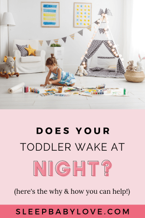 Is Your Toddler Waking In The Middle Of The Night, Wandering Over To Your Bedroom, And Crawling Into Your Bed On A Regular Basis? Click Through To Learn What May Be Causing Your Toddler To Wake In The Middle Of The Night, And How You Can Help Your Preschooler Sleep Through The Whole Night! Parenting Tips | Toddler Sleep Tips | Preschooler Sleep Tips #sleepbabylove #sleeptips #toddler #preschool